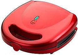 TELEMAX MOD. 8010B RED NEO REMOVABLE PLATES GRILL TOASTER RUBI RED COLOR 700WATT POWER