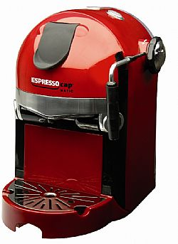 ESPRESSOCAP MOD.74514 CASCO DELUXE RED 1,5L ESPRESSO-CAPPUCCINO ME 20-BAR RED COLOR 980WATT (ITALY) +ΔΩΡΟ 2 ΠΑΚΕΤΑ ΚΑΨΟΥΛΕΣ